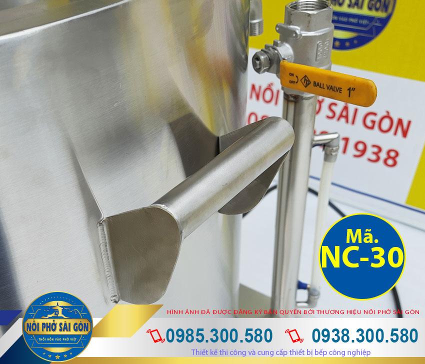 Ống cấp nước và ống canh mực nước của nồi cháo điện 30 lit