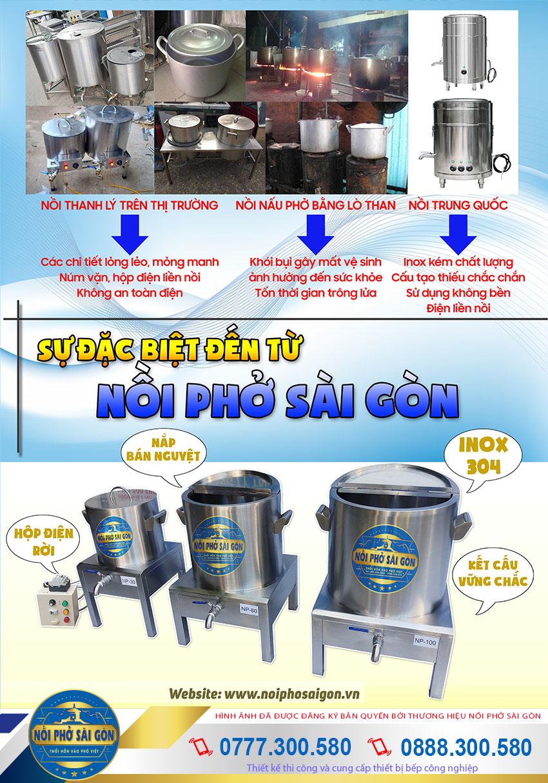 Nồi Phở Sài Gòn - Địa chỉ bán nồi nấu phở bằng điện chất lượng tốt nhất