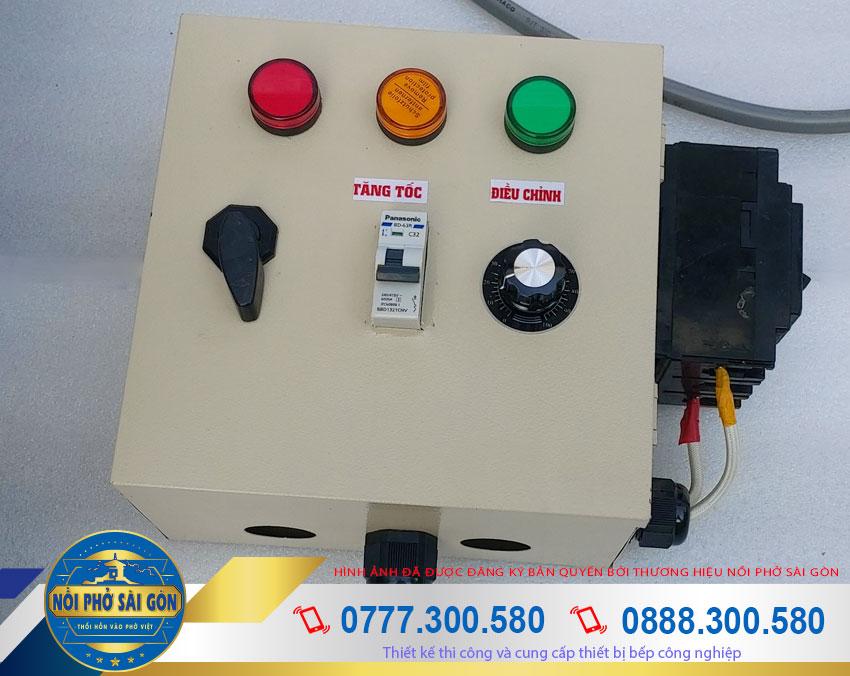 hộp điện nồi nấu cháo công nghiệp 180L