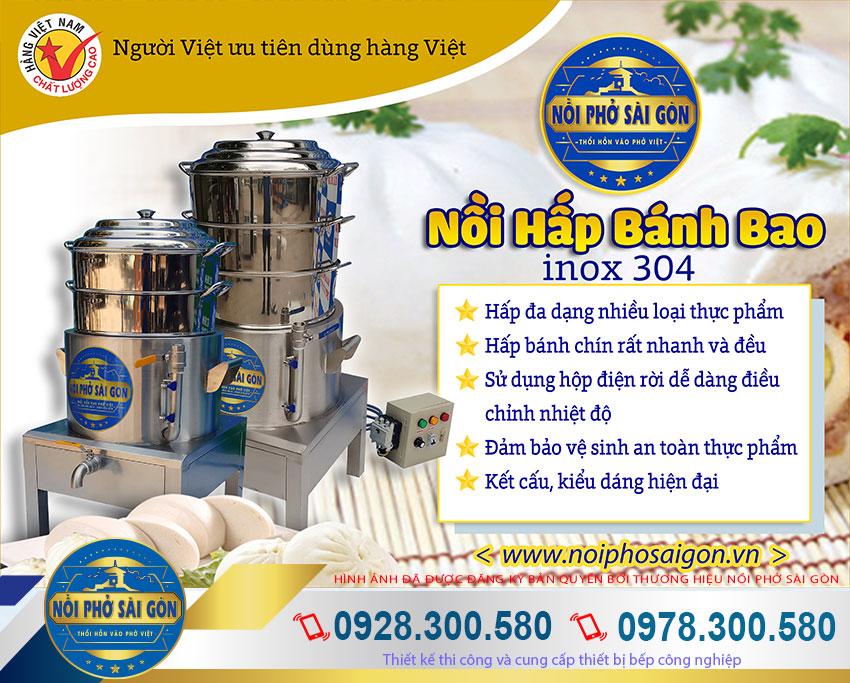 Nồi hấp bánh bao bằng điện công nghiệp thương hiệu Nồi Phở Sài Gòn