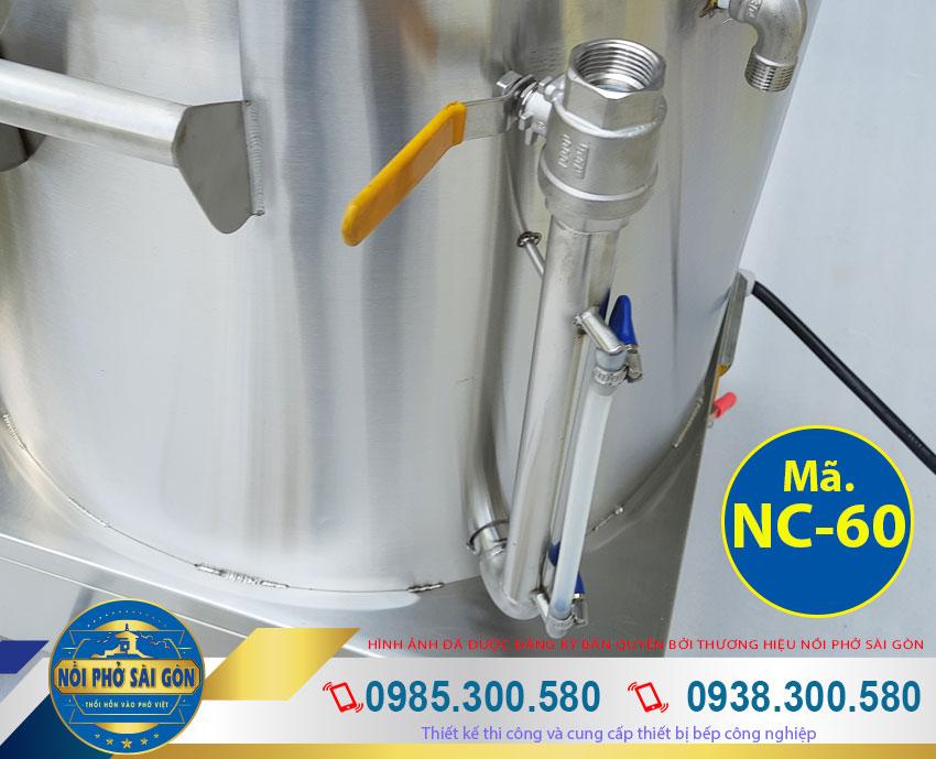 ống canh mực dầu của nồi điện nấu cháo bán 60L