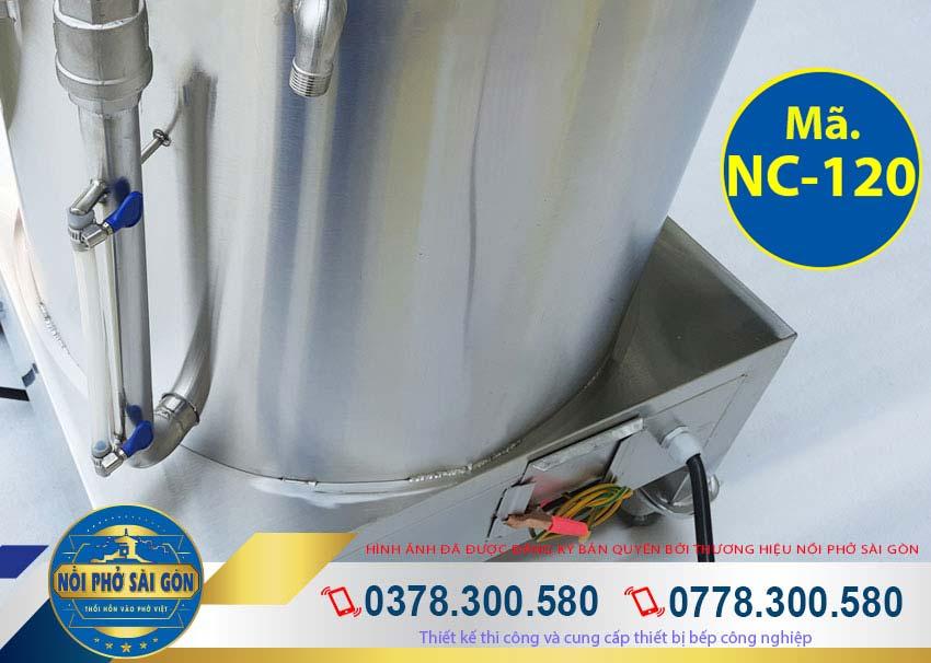 ống canh mực dầu của nồi nấu cháo công nghiệp 120L