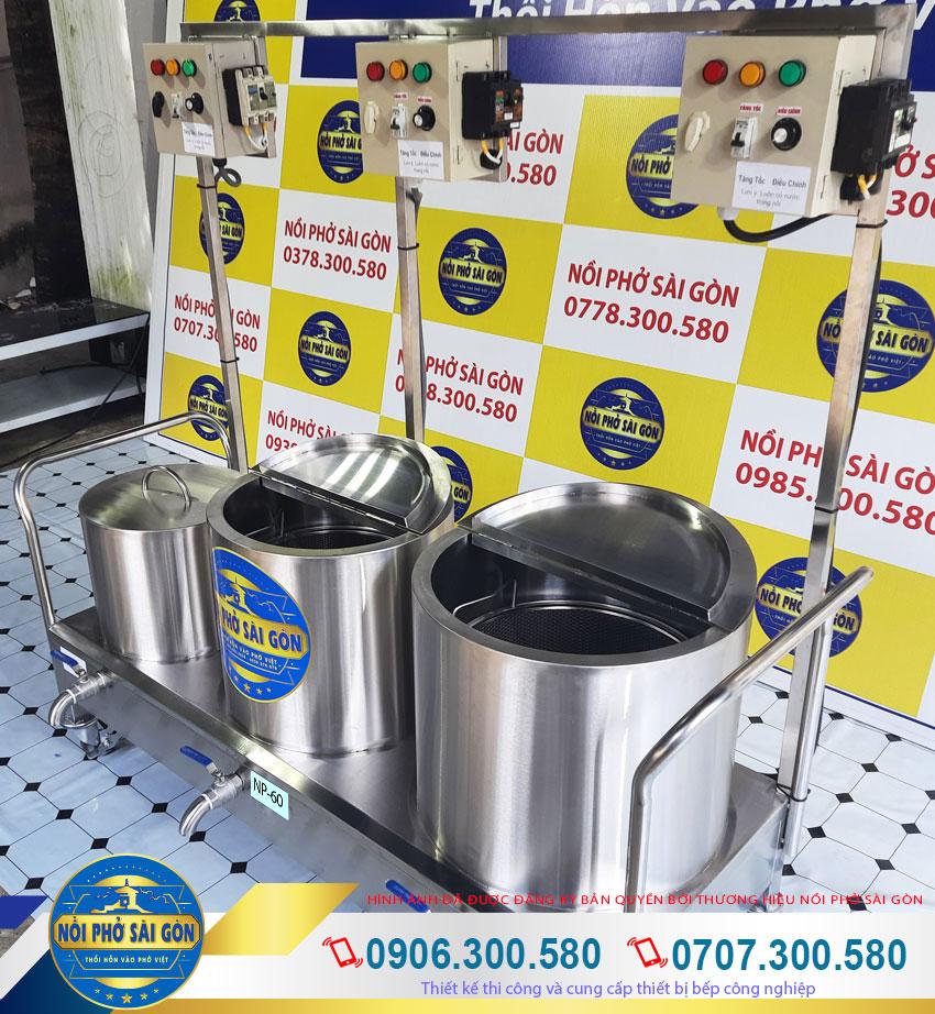 bộ nồi inox nấu phở bằng điện 20 - 60 -80 Lít